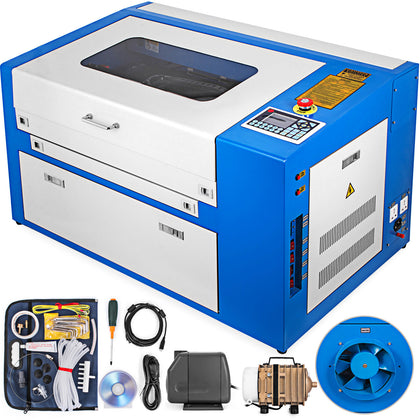 50w Co2 Laser Engraving Cutting Machine Engraver Air Assist Cutter 300x500mm Usb