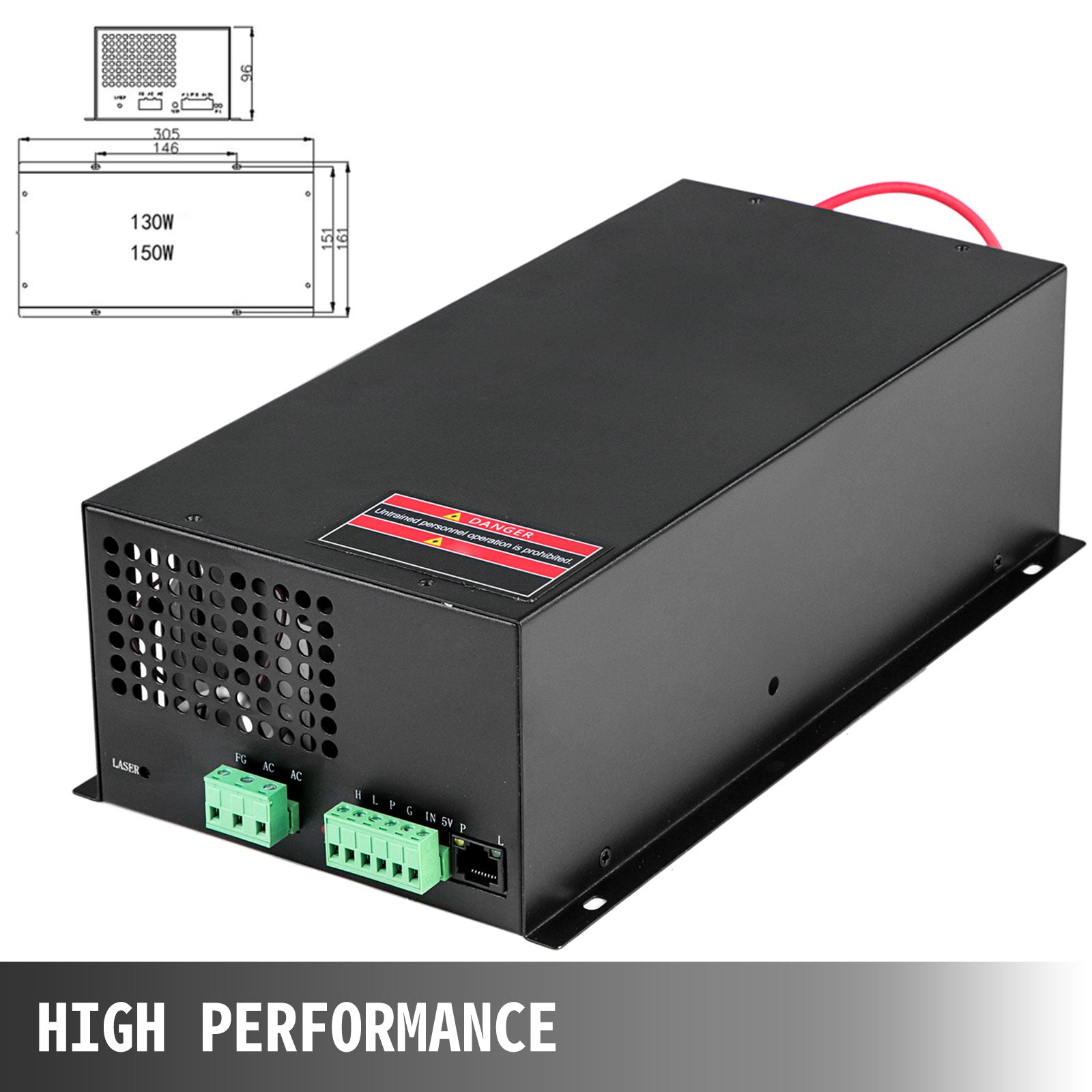 Co2 Laser Power Supply 130w For Laser Tube Engraving Cutting Machine Ac220v/110v