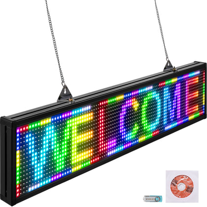 Led Signdigital Sign 38x6.5 Full-color Led Message Board Digital Display Board