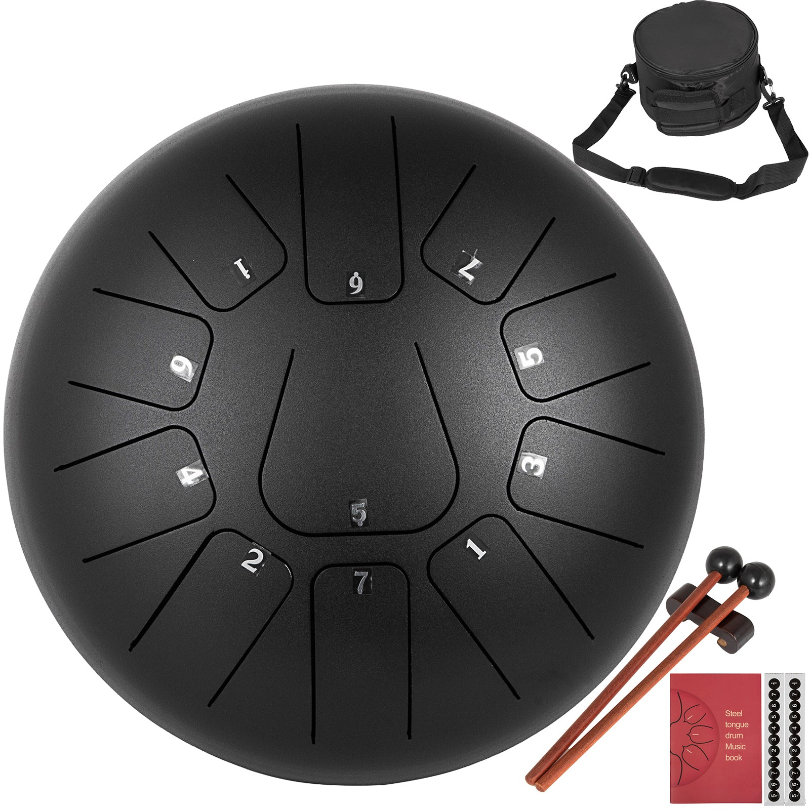 "12"" 11 Notes Steel Tongue Drum Handpan Drums Percussion Instrument Yoga Music"