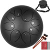 Steel Tongue Drum 8 Notes 8 Inches Handpan F Tune Bag Book Mallets Finger Picks