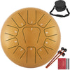 "Steel Tongue Drum 10"" 11 Notes Percussion Instrument W/bag Mallets Finger Picks"