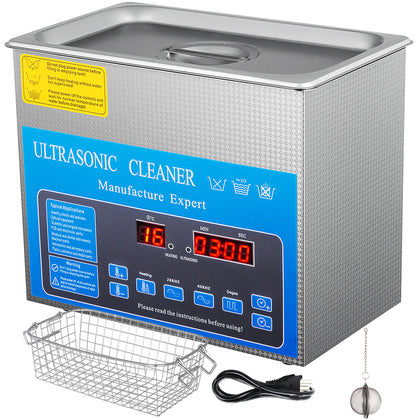 3.2l Digital Ultrasonic Cleaner With Heater 28/40khz Eyeglasses Heating Jewelry