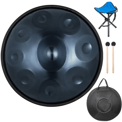 9 Notes Hand Pan Steel Handpan Hand Drum Percussion High-grade Music Set