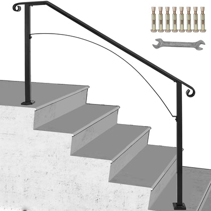 Fits 4 Steps Handrail Arch#4 Matte Black Office Brick Steps Commercial