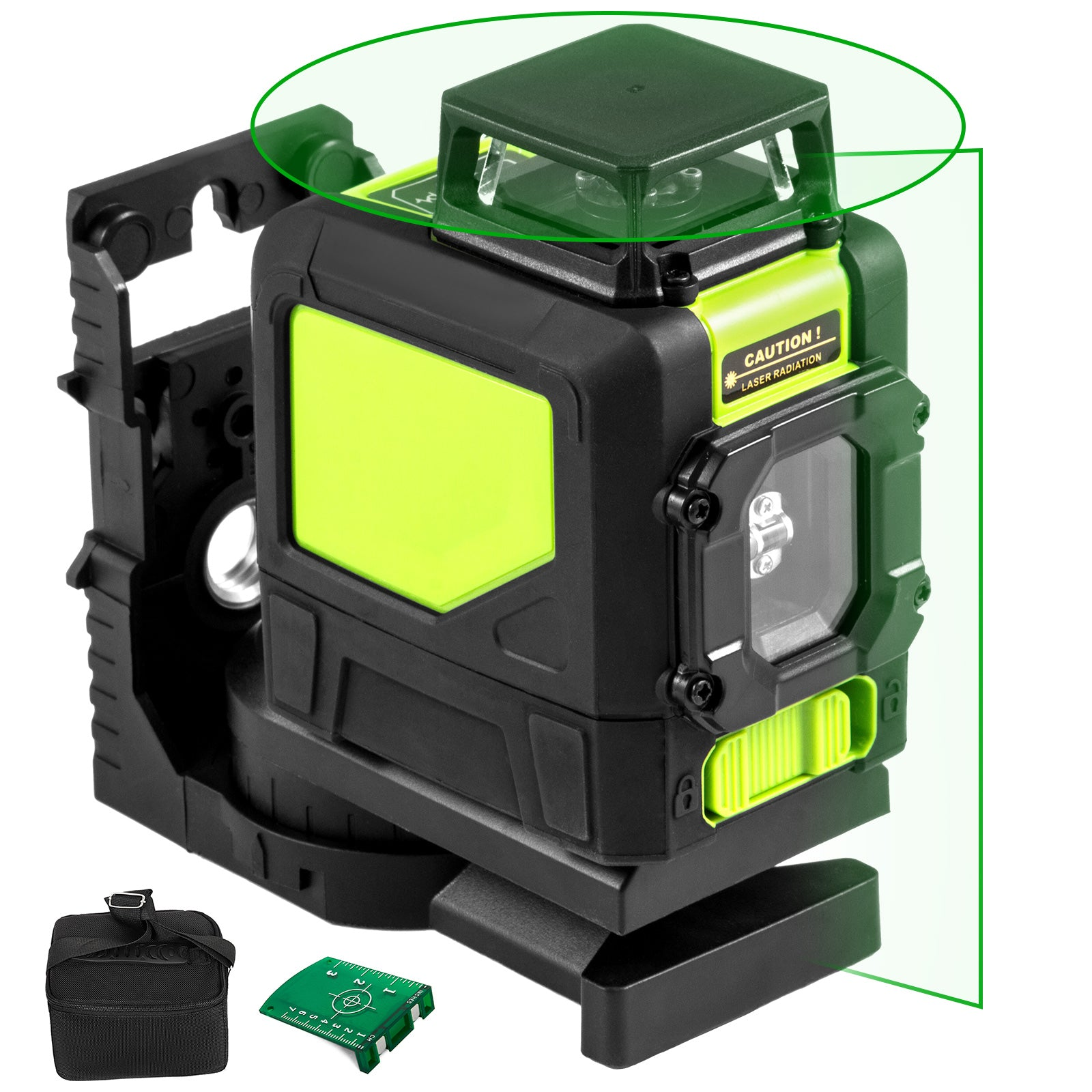 Laser Level Green Beam Cross 5 Line Self-leveling 360-degree Line Pluse Mode
