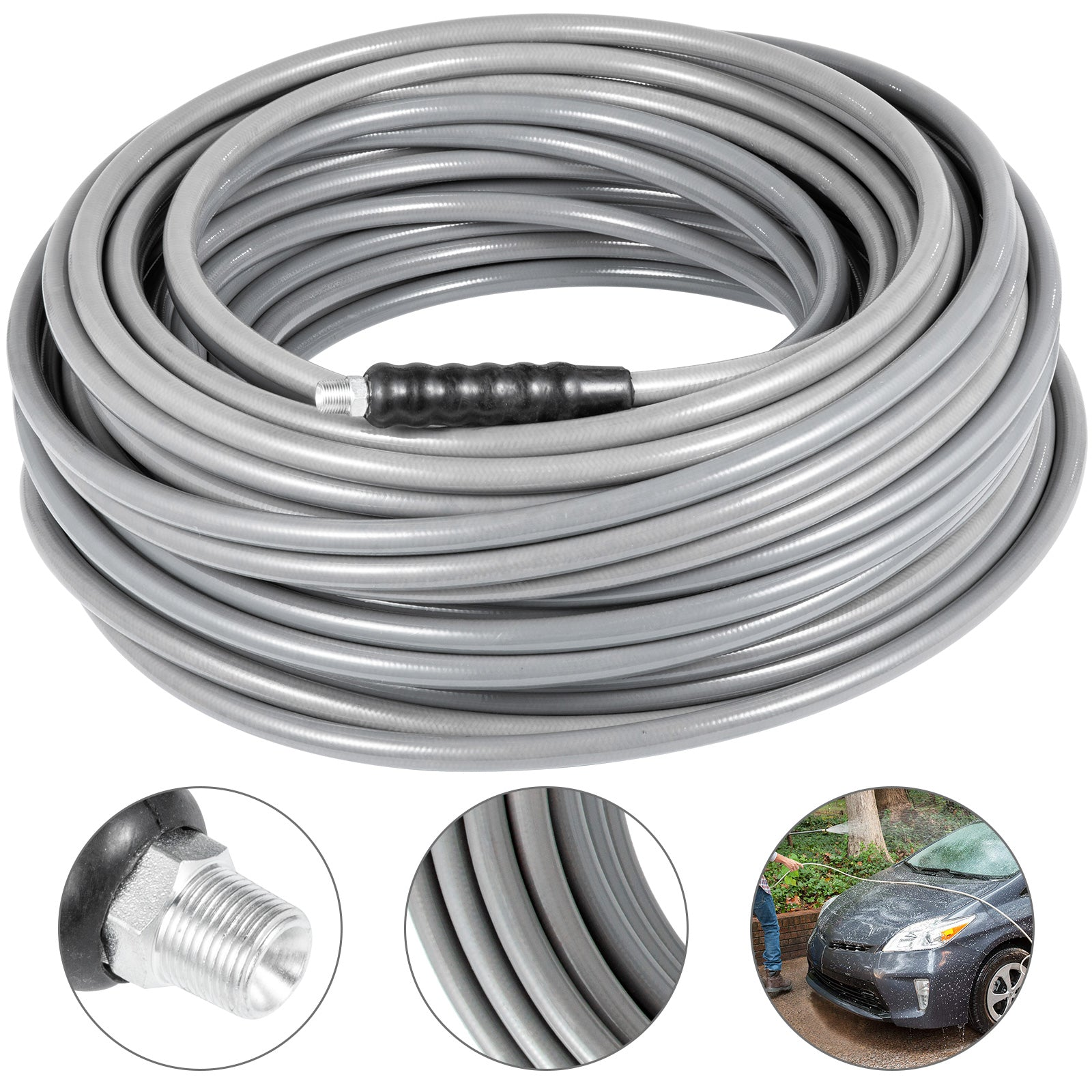 "3/8"" 200ft Pressure Washer Hose 4500 Psi Cold Water Carpet Solution"