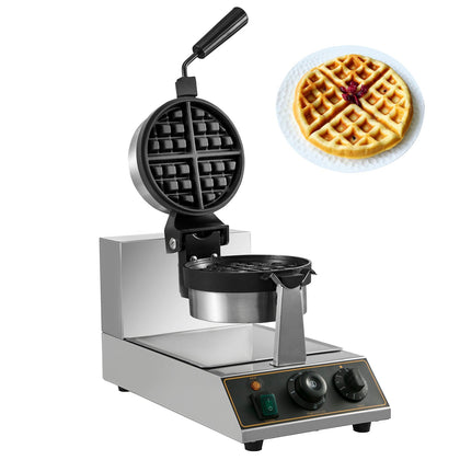Commercial Electric Rotating Round Waffle Maker Teflon Coating Electric 110v