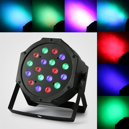 Rgb 18 Led Par Stage Light Dmx Sound Master Slave Disco Club Party Light Remote