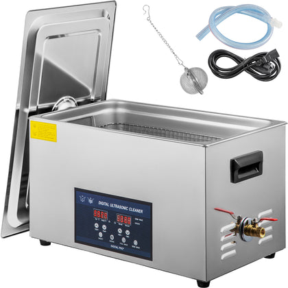 10l Digital Ultrasonic Cleaner With Heater 28/40khz 0-80℃ Large Stainless Steel