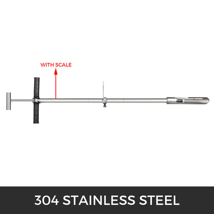 304 Stainless Steel Soil Probe Sampler W/ T-style Rubber Handle Foot Pedal