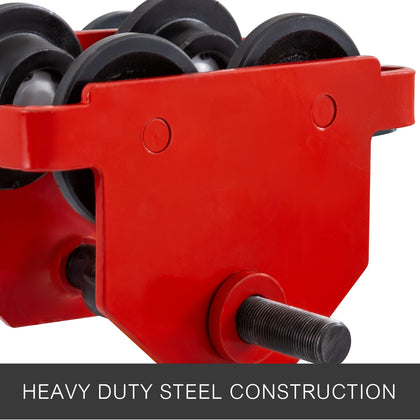 Heavy Duty Manual 0.5t Capacity Push Beam Trolley Heavy Loads Manual Lifting