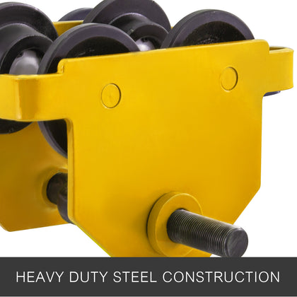 Heavy Duty Manual 2t Capacity Push Beam Trolley Lifting Eye Solid Steel