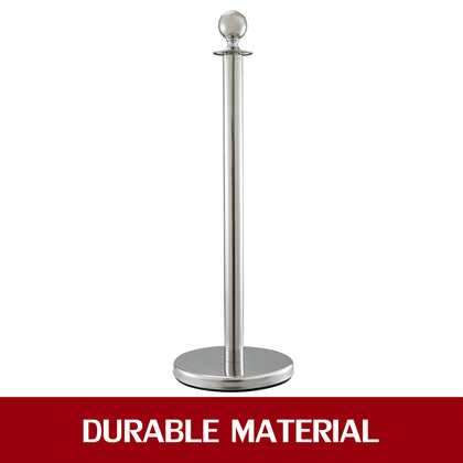 Crowd Control Stanchion Silver 1.5m 3 Pack Durable Silver Ball Round
