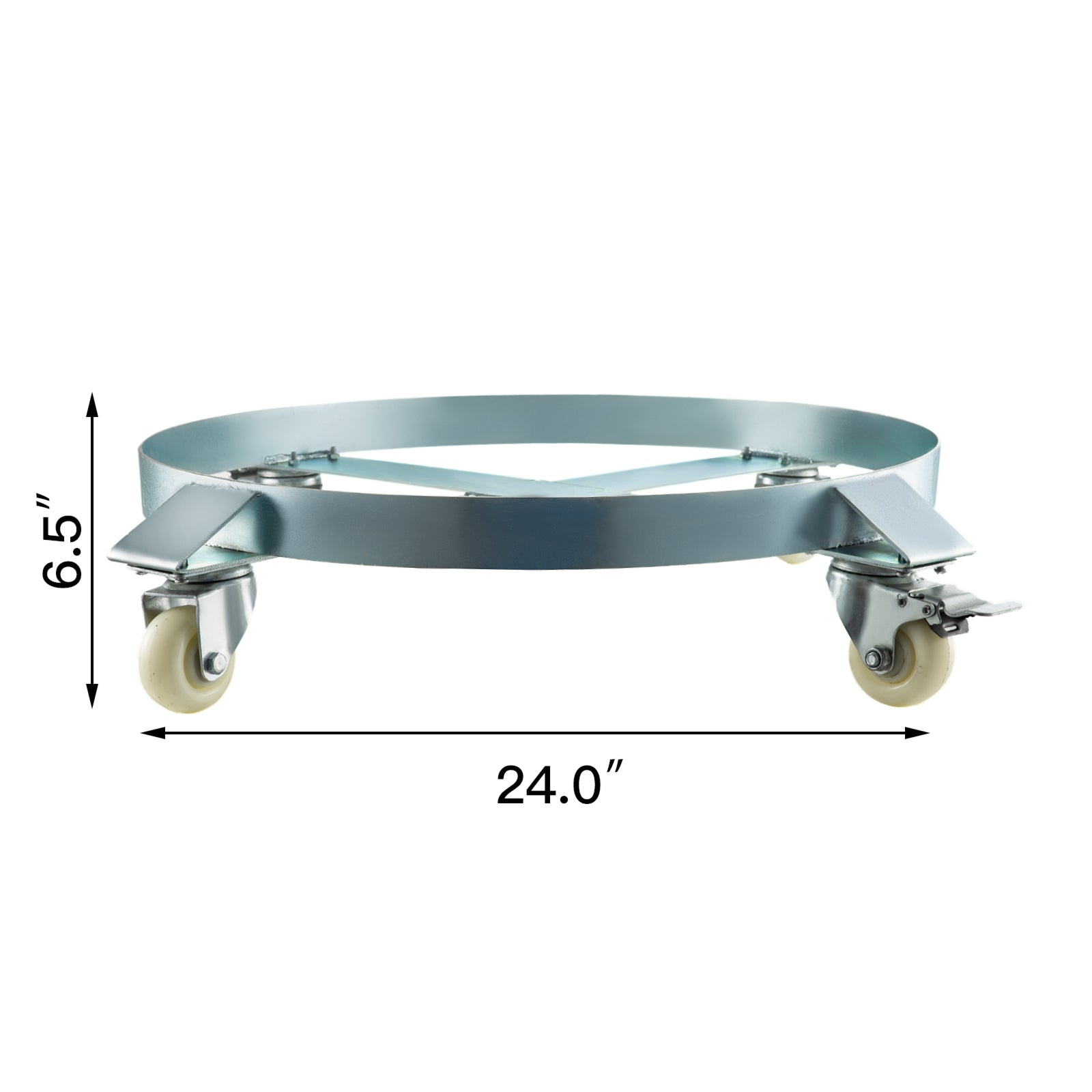 55 Gallon Heavy Duty Drum Dolly With 4 Caster Wheels