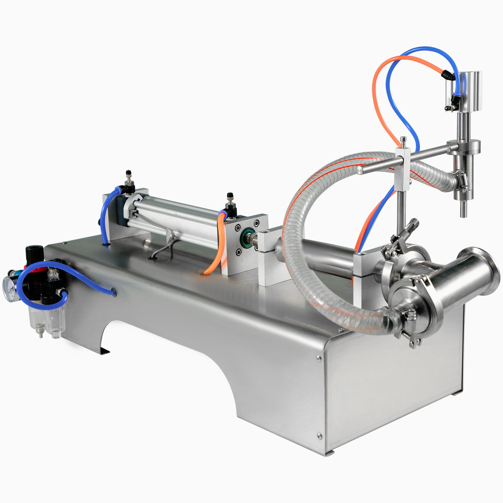 Pneumatic Liquid Filling Machine 90-1000ml Semi-automatic Single Head