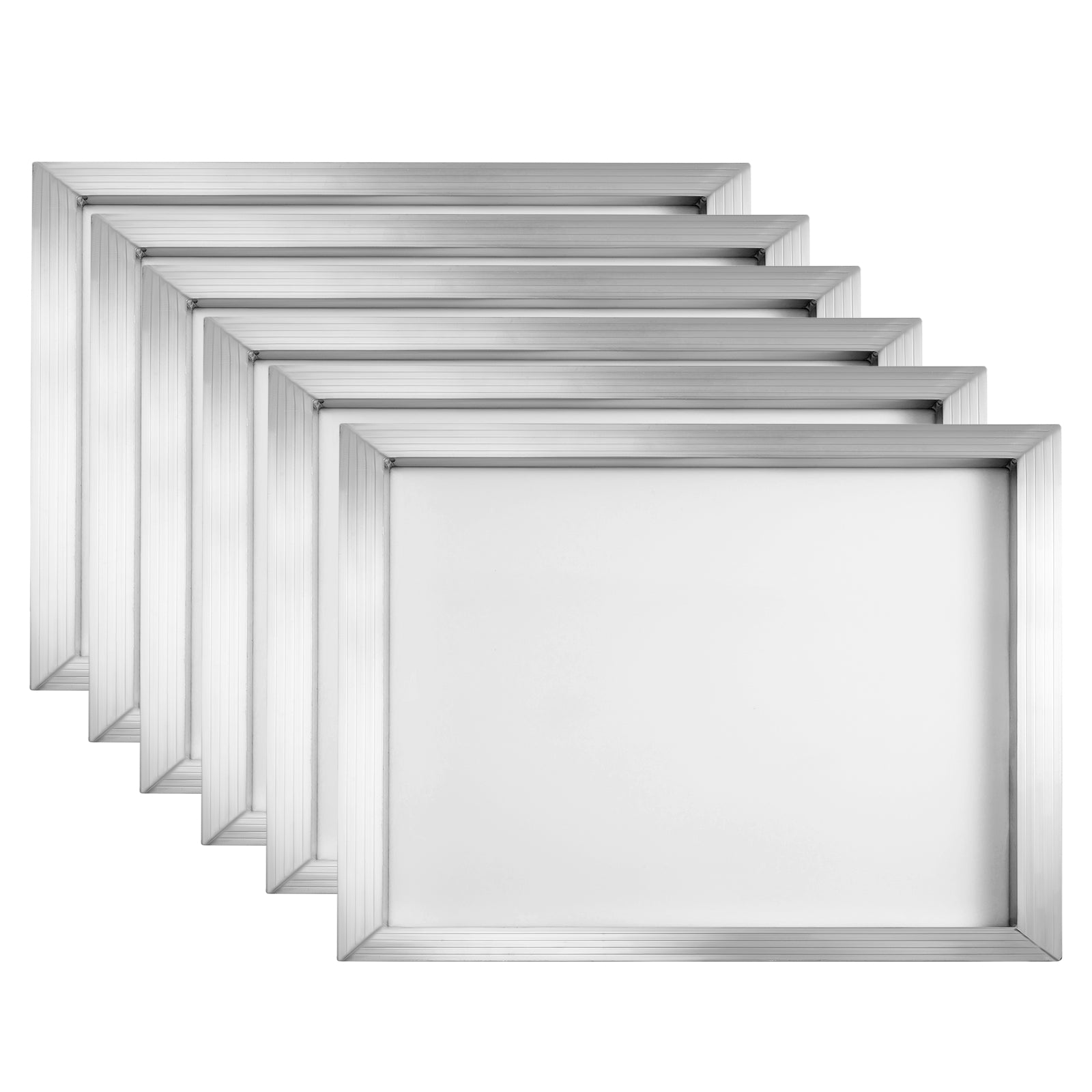 "6 Pack 20""x24"" Aluminum Frame Silk Screen Printing Frames With 110 Mesh Diy"