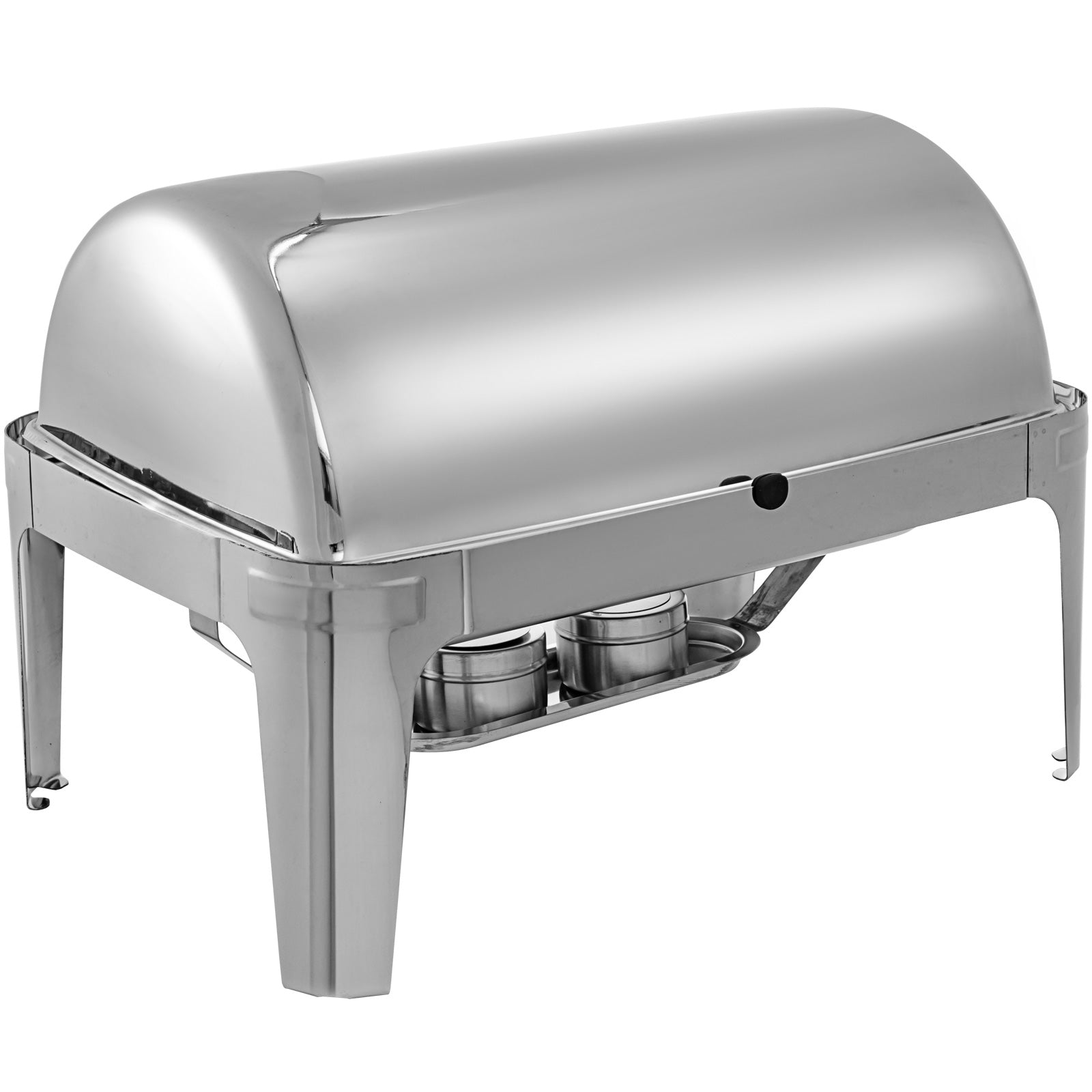 Chafing Dish Roll Top Chafer 9 L Buffet Catering Restaurant Silver With Apron