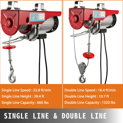 600kg Electric Hoist Scaffold Winch Lifting Crane Scaffolding Garage Gantry