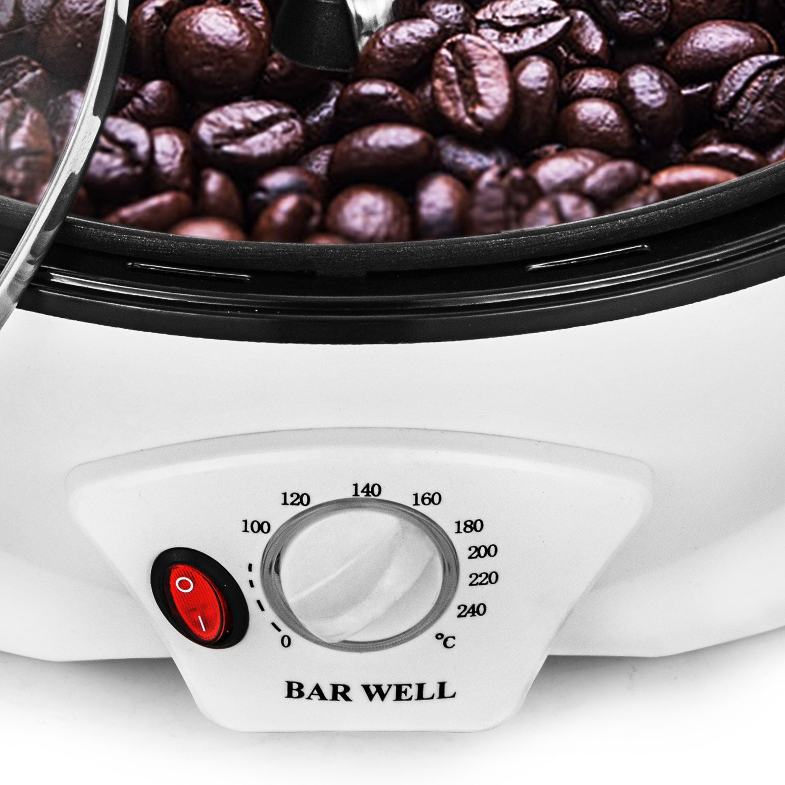 1500g Electric Coffee Bean Roaster Baking Machine Nuts Roasting For Home Office