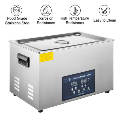 30l 800w Digital Ultrasonic Cleaner With Heater 28/40khz Large Tub Basket Degas