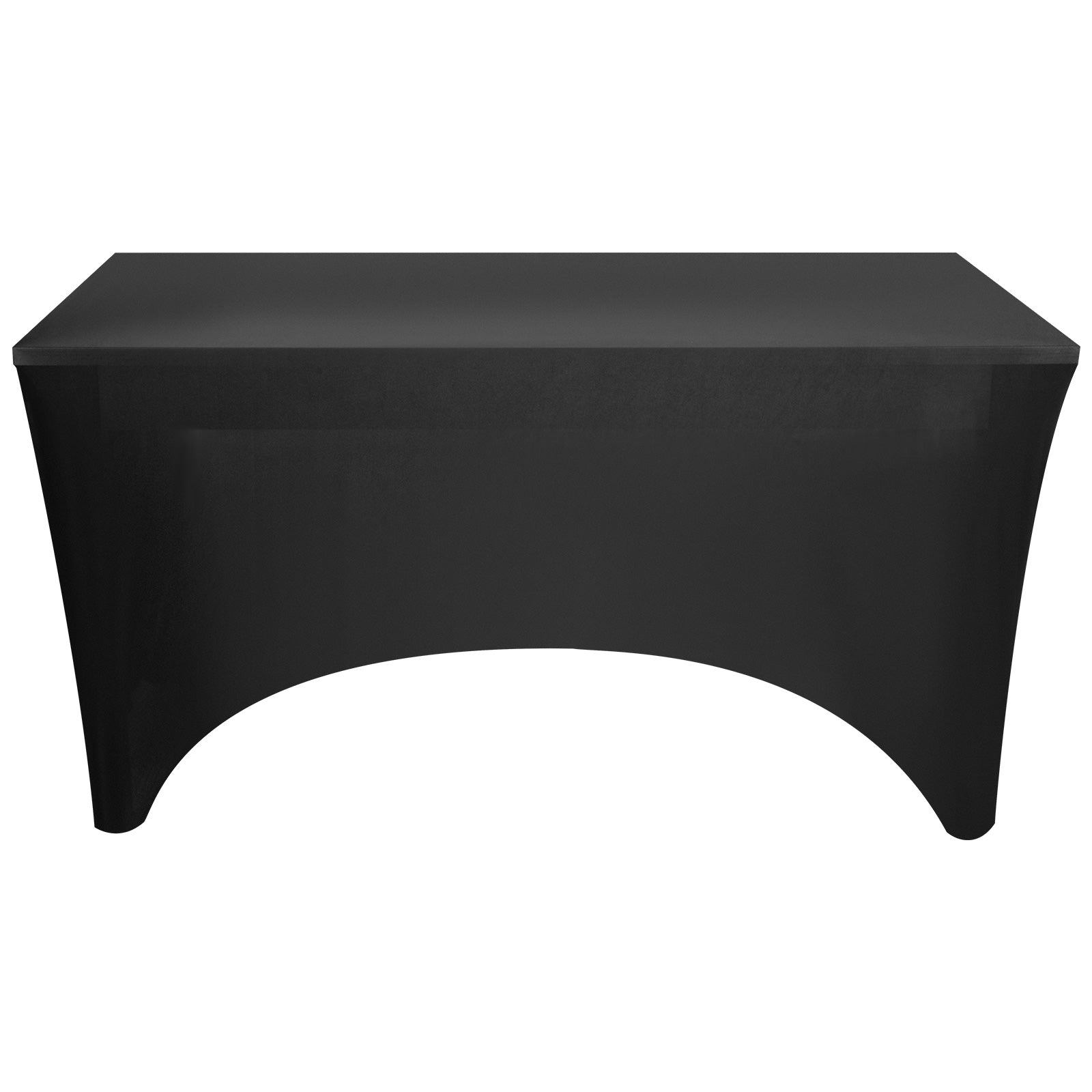 20pcs Rectangular Tablecloth Spandex Lycra Stretch Table Cover 6ft Black Wedding