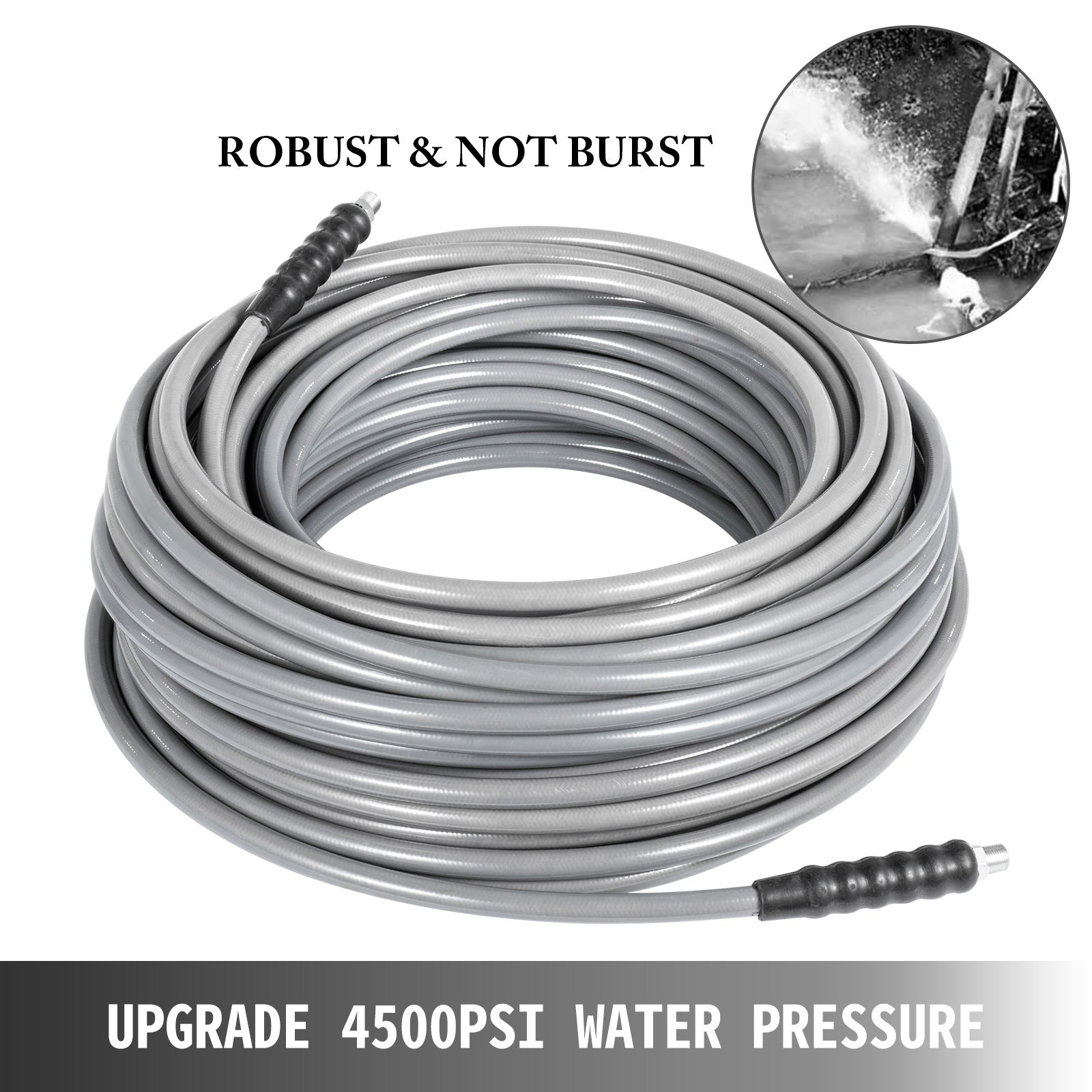 "3/8"" 50ft Carpet Cleaning Hose Pressure Washer Cold Water 4500psi"