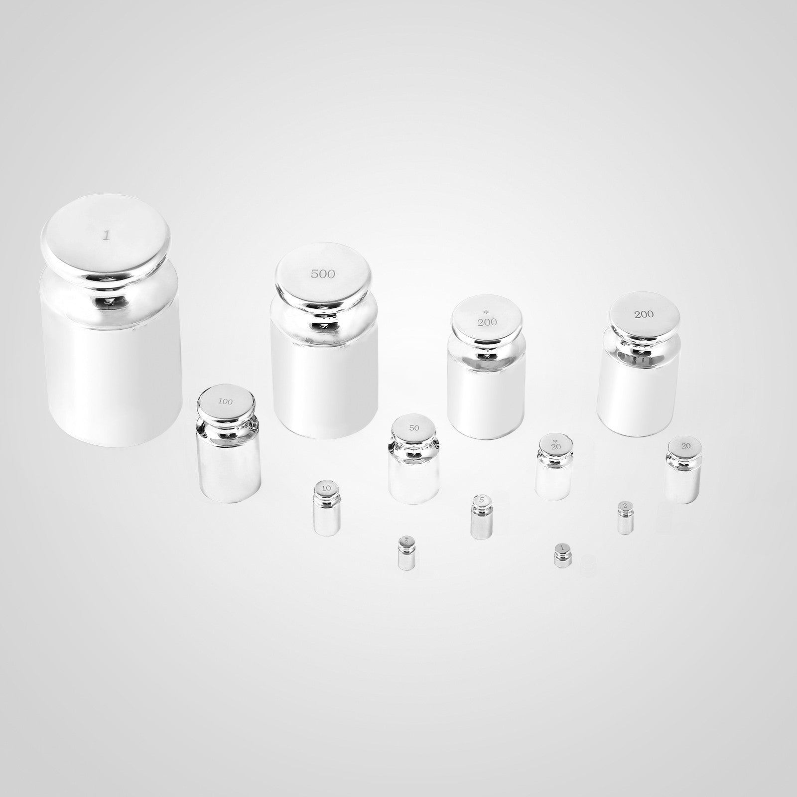 F1 Grade 25pcs/set Calibration Weight Kit Calibration Jewelry 1mg-1kg High Grade