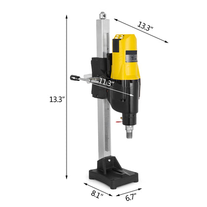 4450w 255mm Diamond Core Wet Drill Machine Stand Base Rig Motor Water Dry Great