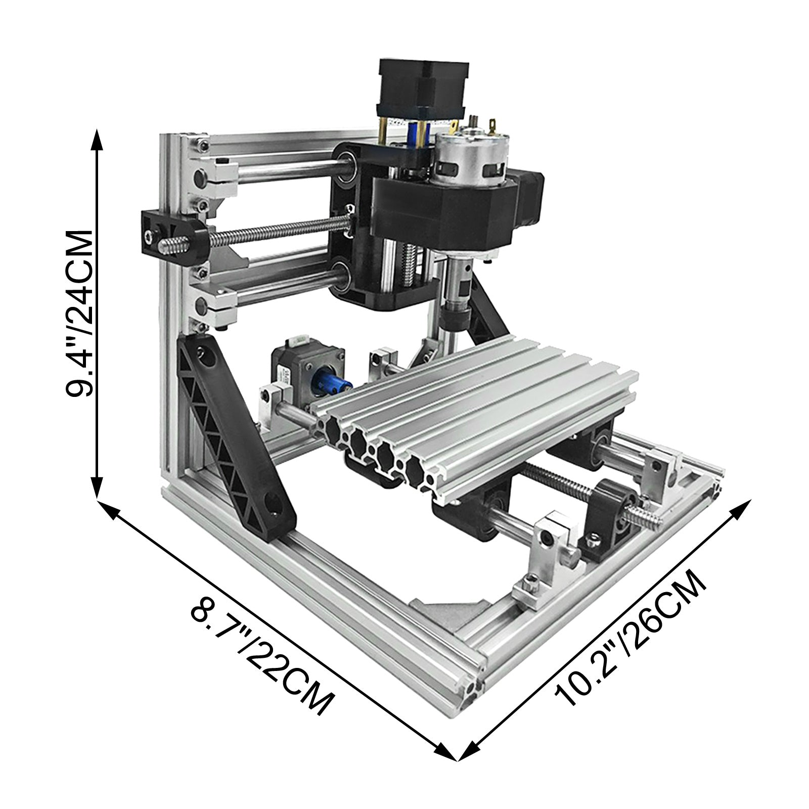 3 Axis Cnc Router Kit 1610 With 5500mw Laser Diy Aluminium Milling Engraver Usb