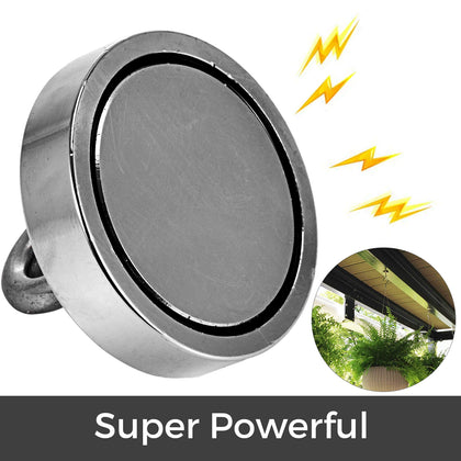 Fishing Magnet D80*18-300kg Stainless Steel Powerful Recovery Stainless Steel