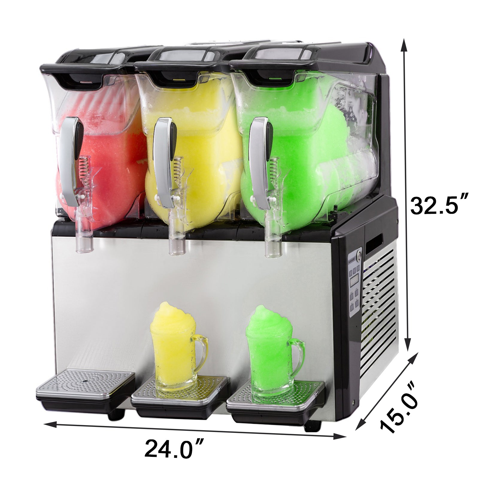 30l Slush Frozen Drink Machine Slushie Single Bowl Mix Drink Ice Maker Beverage
