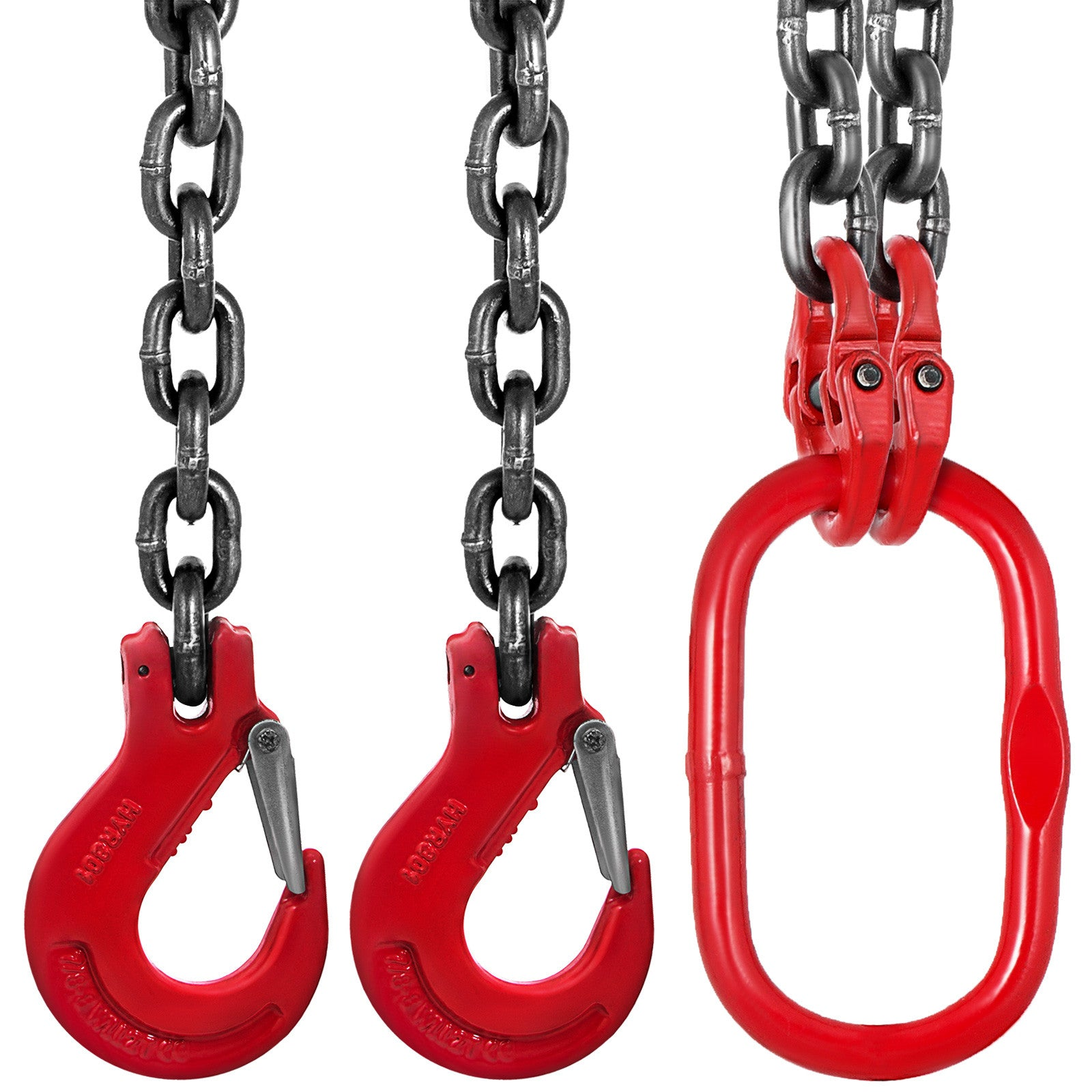 "6/15"" X 3.3' Lifting Chain Slings 2legs 8mmx1m Grade 80 5/16inch/8mm Chain Sling"