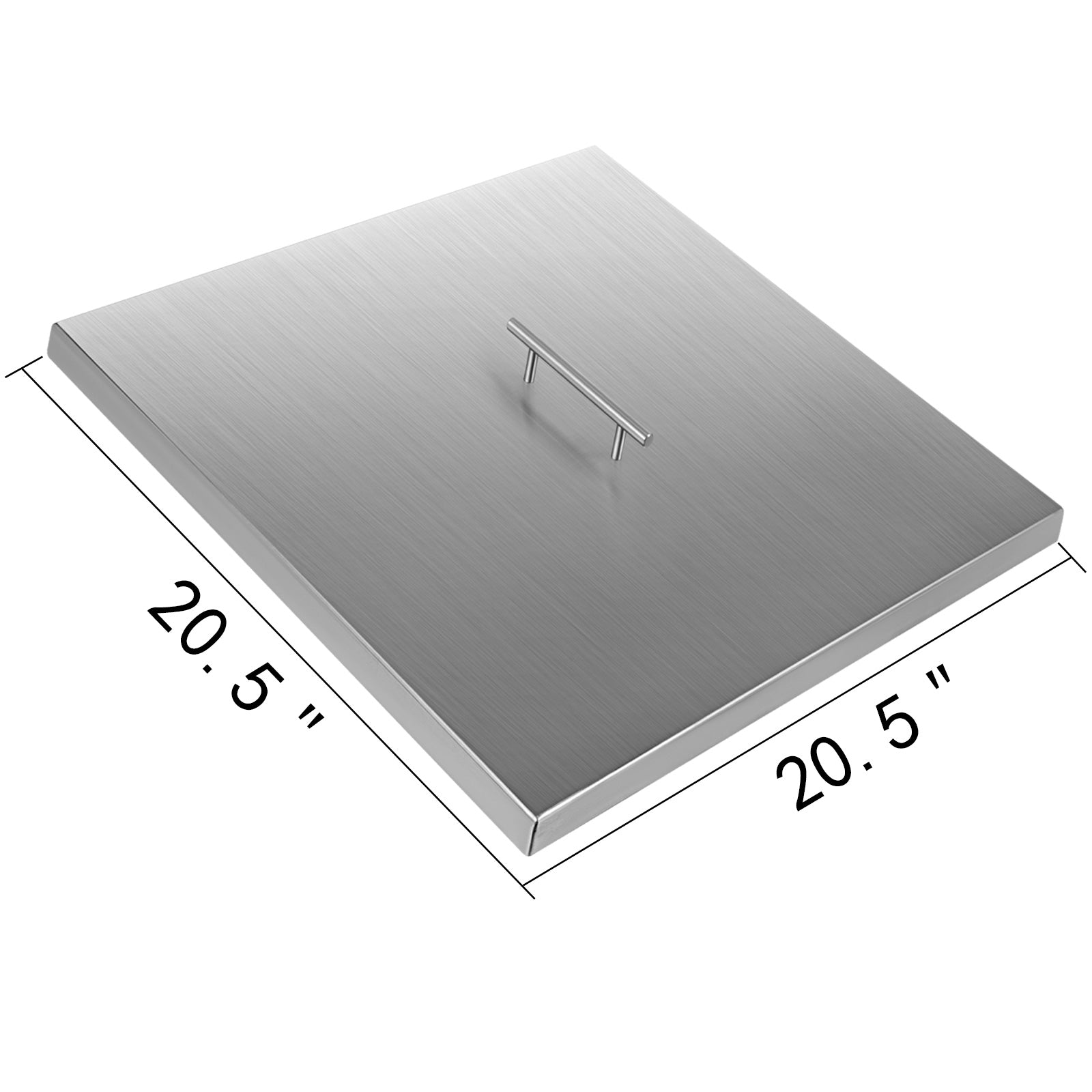 "21""x 21"" Fire Pit Cover Lid For Linear Burner Outdoor Stainless Steel Protecter"
