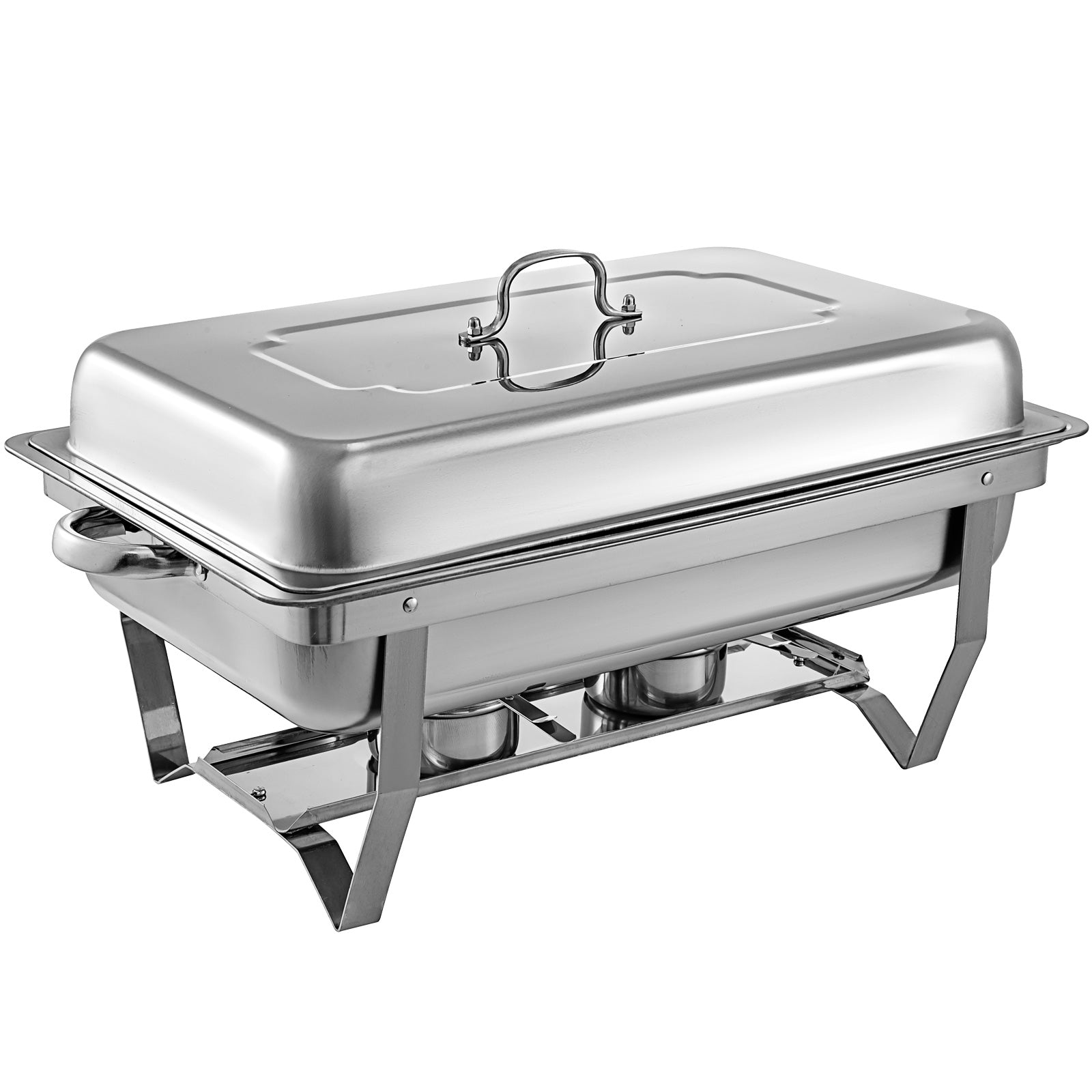3 Packs Chafing Dish With 1/3 Inserts 9 L Chafer Buffet Tray With Lid Wedding
