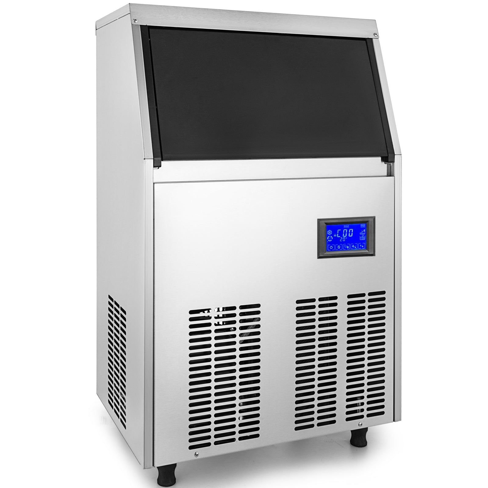 Ice Cube Maker Machine 40kg/88lbs Commercial Timing Cleaning Automatic 40kg/24h