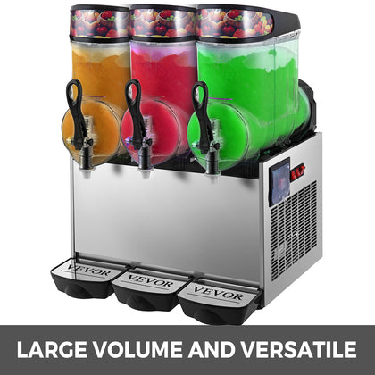 Slush Frozen Drink Machine Stainless Steel Commercial 360°mix Good