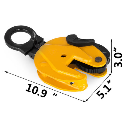1t/1000kg Industrial Vertical Plate Lifting Clamp Steel 2200 Lbs Wll