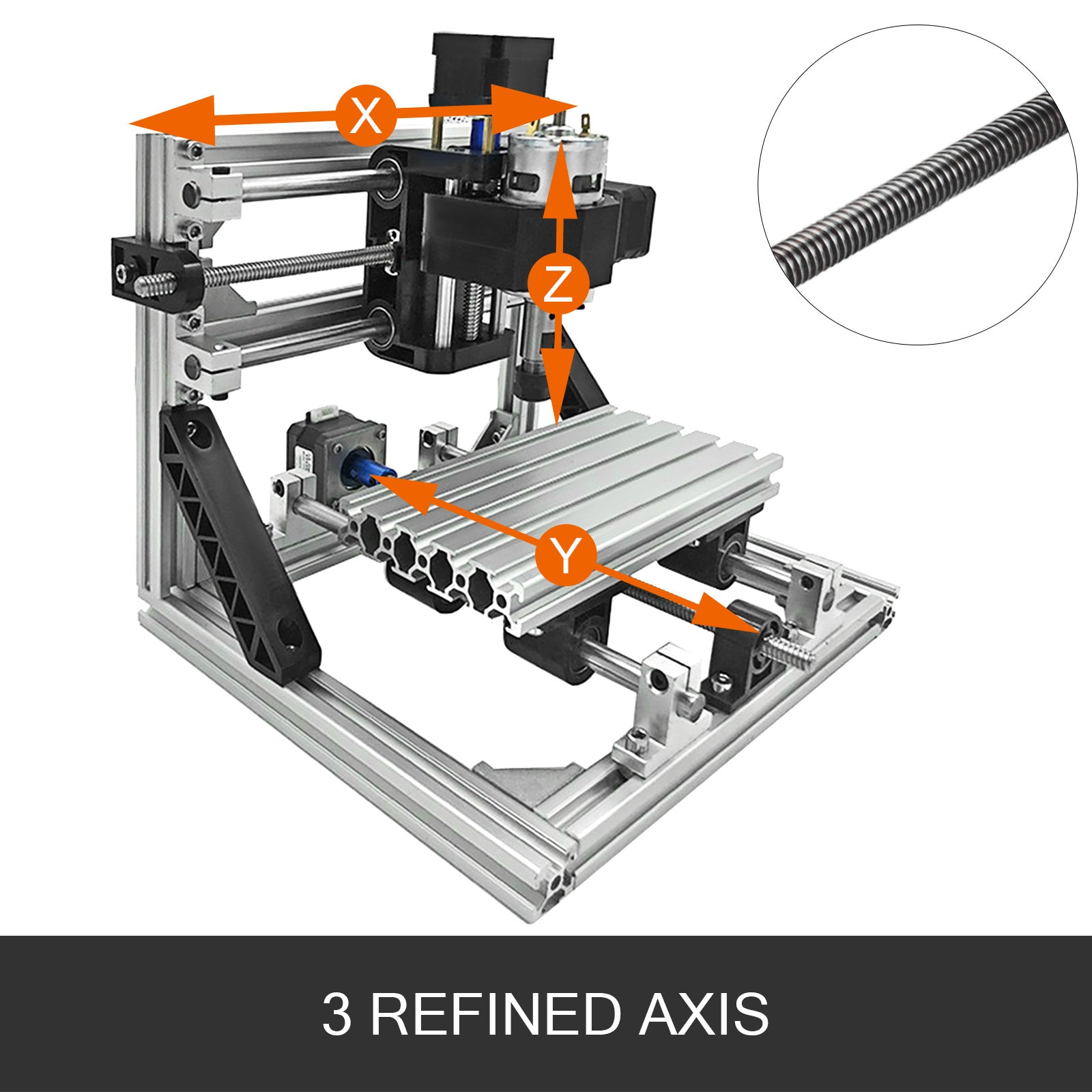 3 Axis Cnc Router Kit 1610 Engraver T8 Screw Ttl Injection Molding Material