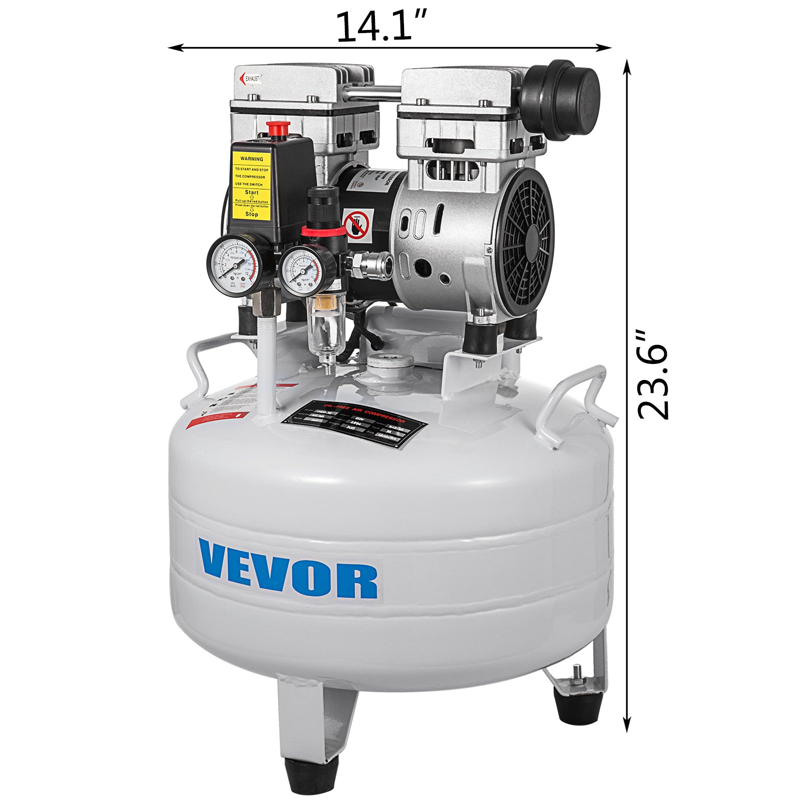 Air Compressor 30l 850w Oil Compressor Low Noise Silent 48db
