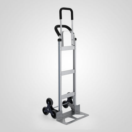 250kg Aluminum Hand Trolley Stair Climbing Truck Moving 550 Lb Capacity Push