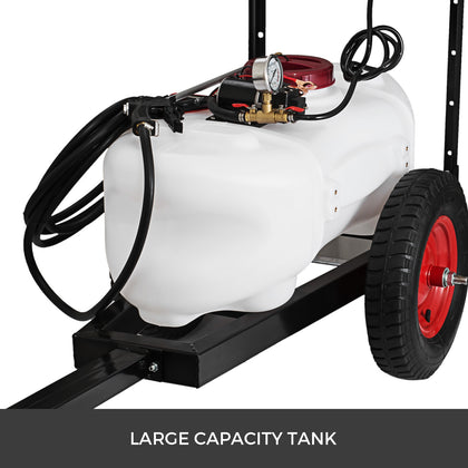 60l Atv Weed Sprayer 1.6m Boom Trailer Spot Boom Spray Tanks Garden Farm