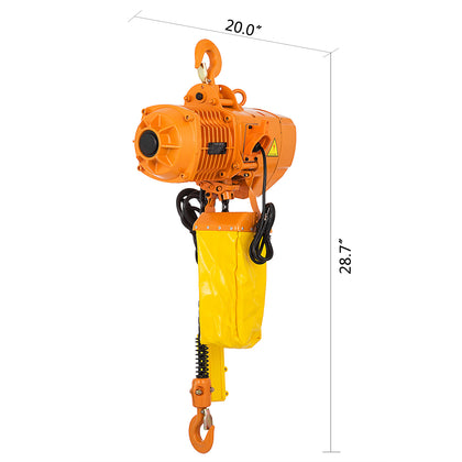 3phase 220v 0.5 Ton 1100 Lbs 10 Foot Lift Height Heavy Duty Electric Chain Hoist