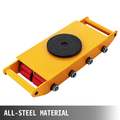 12t Machinery Mover Rolling Skate Dolly Skate Carbon Steel Smooth