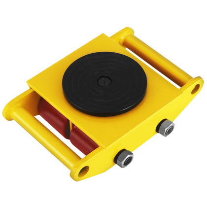 Industrial Machinery Mover With 360°rotation Cap 13200lbs 6t Yellow Dolly Skate