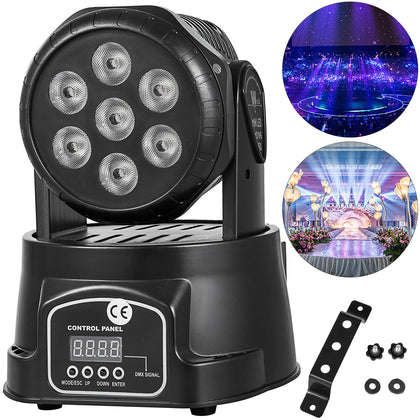 70w Rgbw Led Moving Head Stage Lighting Dmx-512 Dj Disco Xmas Party Light