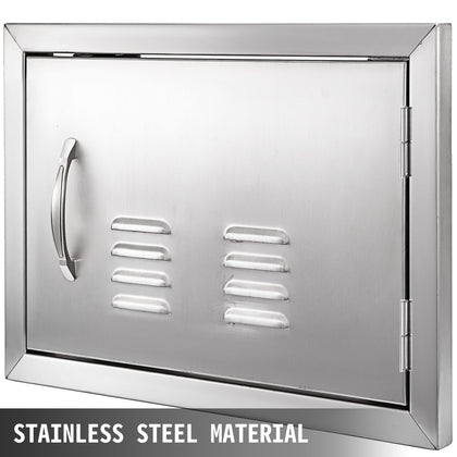"14""hx20""w Bbq Access Single Door With Vents With Handle Vertical Durable"