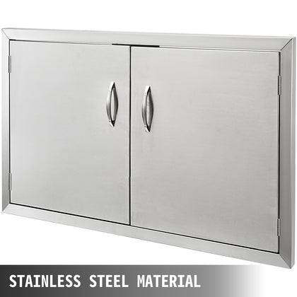 Stainless Steel Bbq Access Door 88x48 Cm W/ Ss Handles Gas Grill Outdoor Kitchen