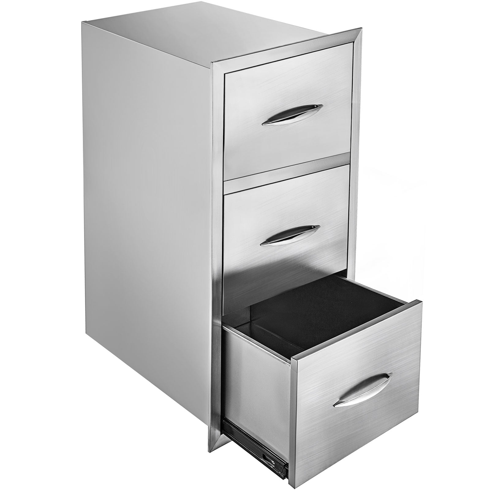 "30""x17"" Bbq Stainless Steel Triple Drawers W/paper Holder Bedroom Kitchen Drawer"