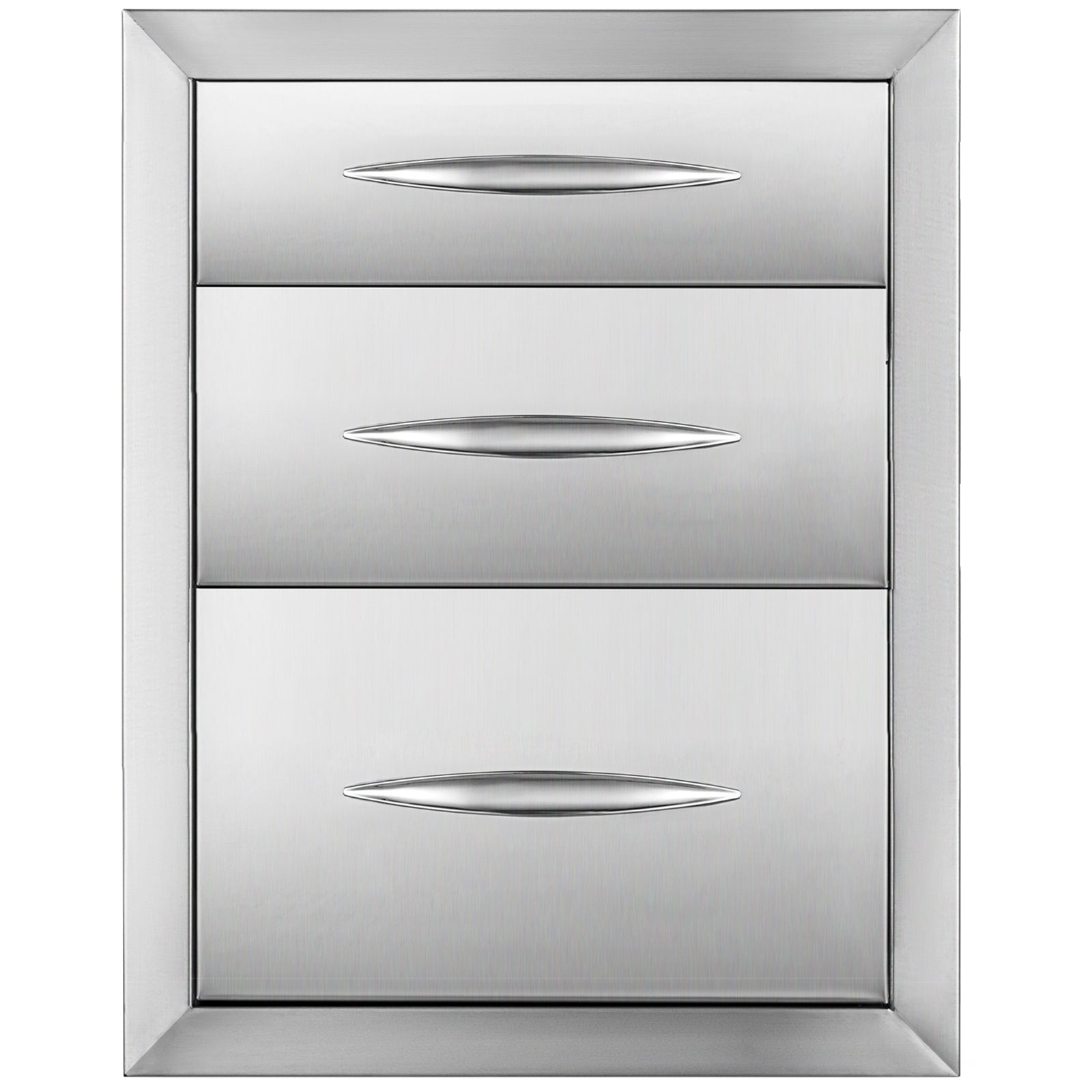 Stainless Steel 3 Chest Of Drawers W/ Handle 35*58cm Bbq Island Storage Cabinet